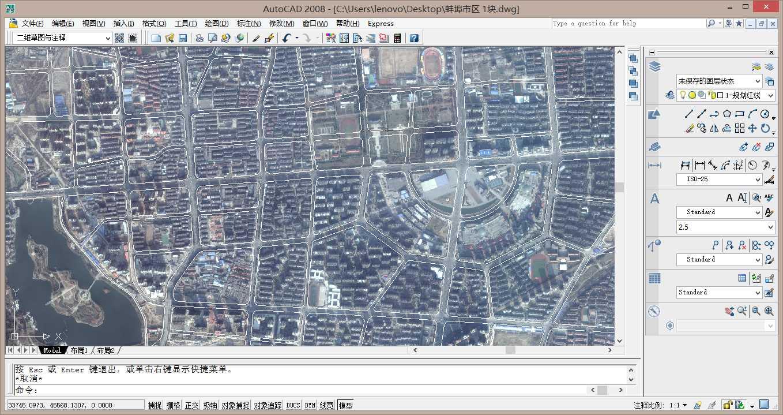 autocad打开谷歌高清卫星地图