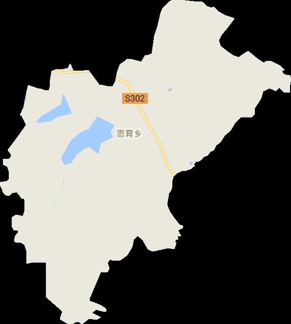 吉林省长春市榆树市恩育乡电子地图高清版大图