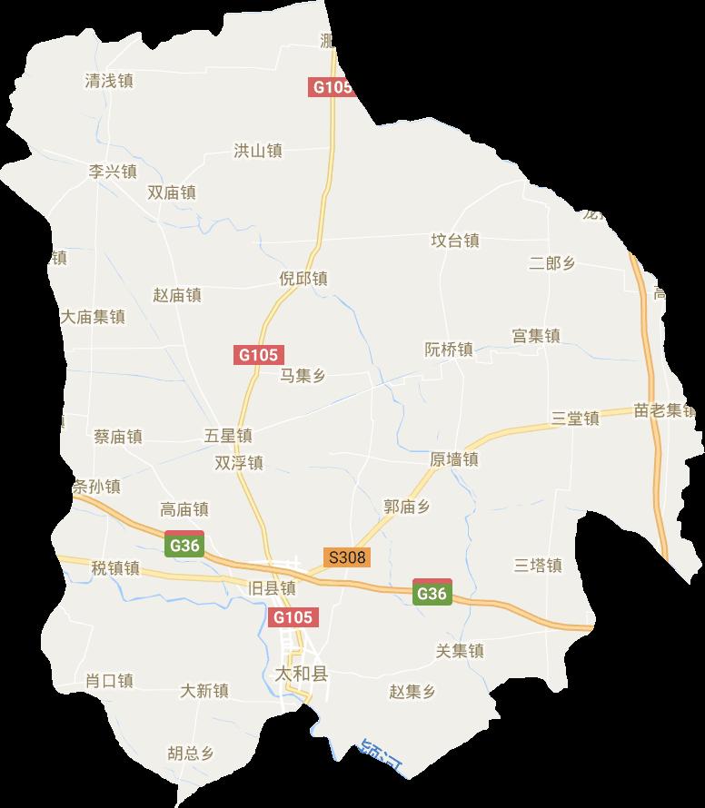 安徽省阜阳市太和县电子地图高清版大图