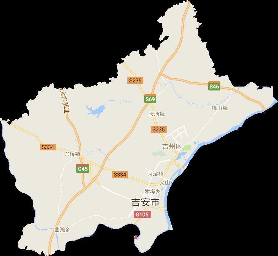 江西省吉安市吉州区电子地图高清版大图