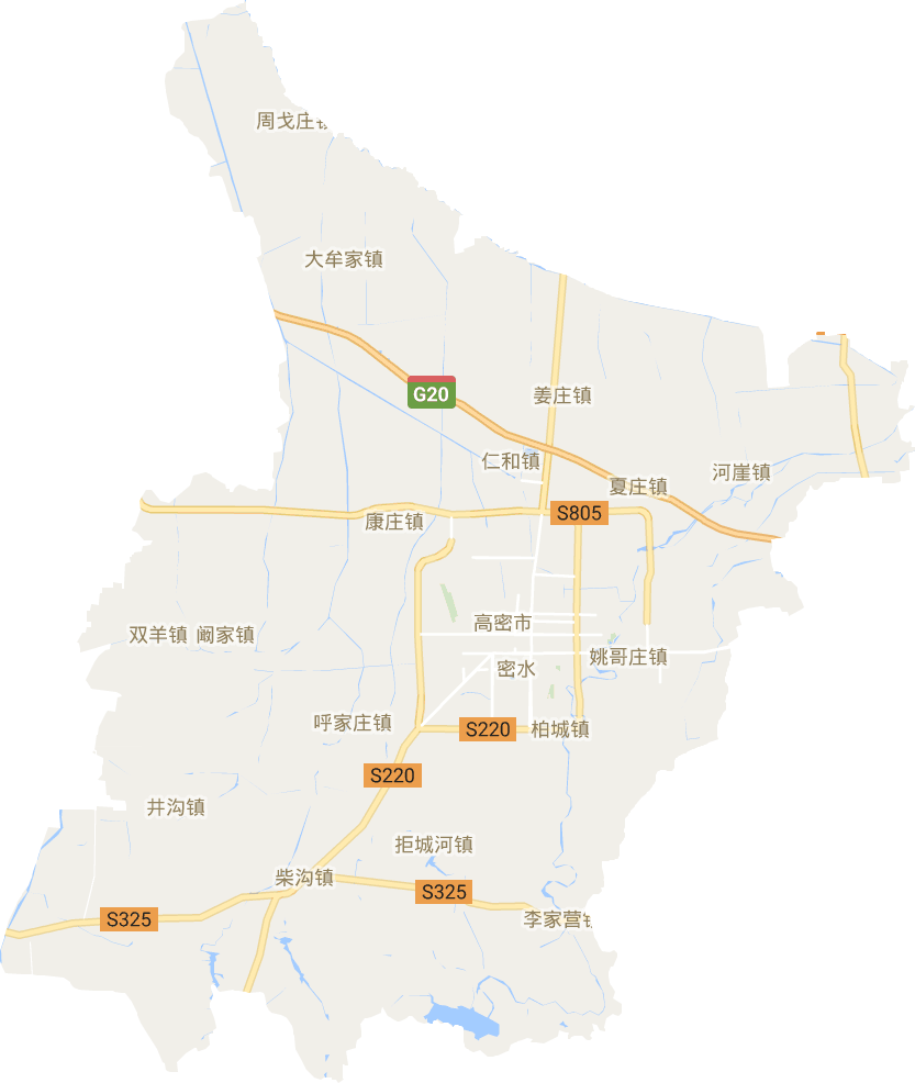 山东省潍坊市高密市电子地图高清版大图