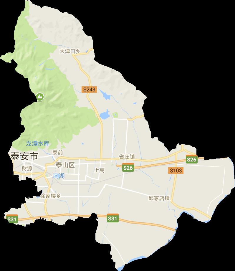 山东省泰安市泰山区电子地图高清版大图
