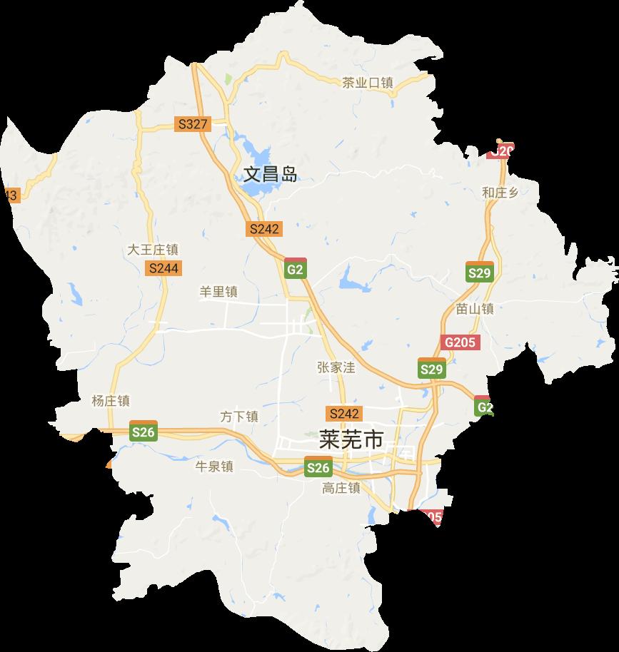 莱城区电子地图高清版大图