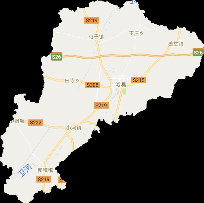 河南省鹤壁市浚县电子地图高清版大图