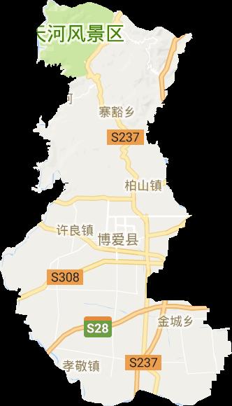 博爱县高清卫星地图,博爱县高清谷歌卫星地图