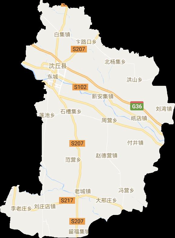 沈丘县电子地图高清版大图