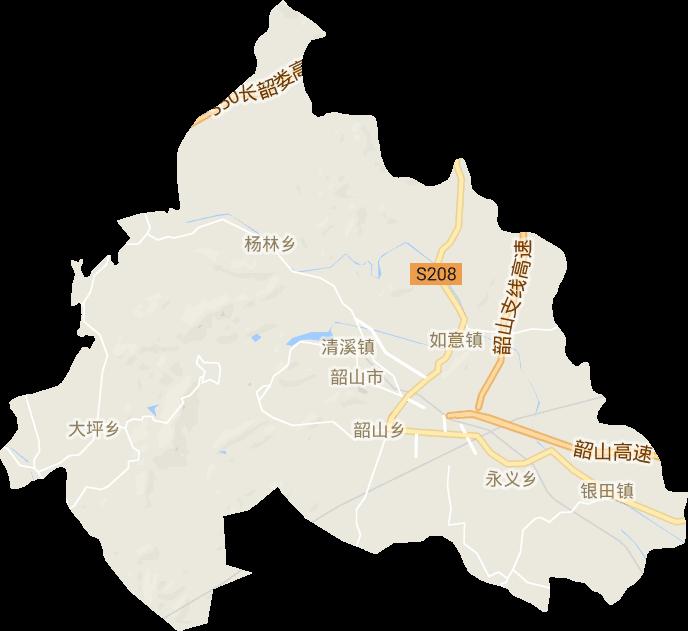 湖南省湘潭市韶山市电子地图高清版大图