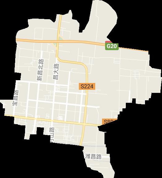 山东省潍坊市昌乐县县经济开发区电子地图高清版大图