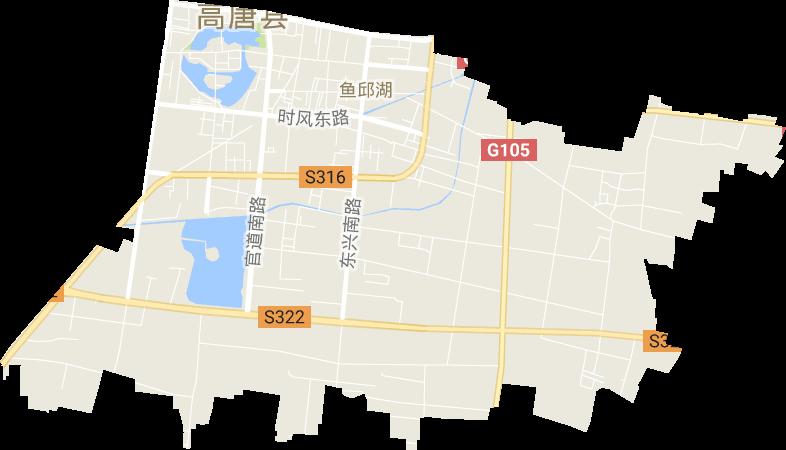 山东省聊城市高唐县鱼邱湖街道电子地图高清版大图