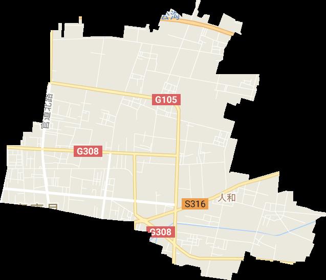 山东省聊城市高唐县人和街道电子地图