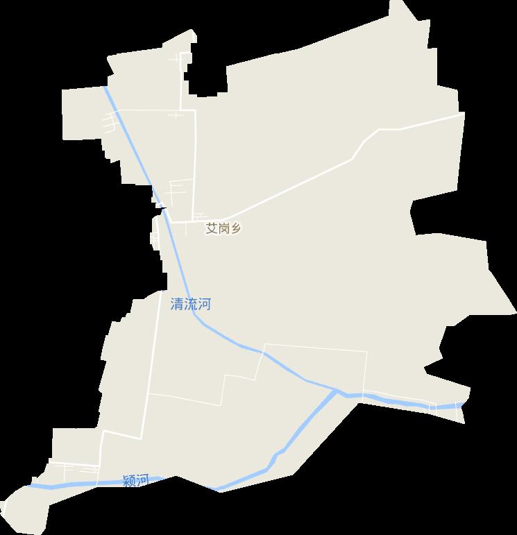 河南省周口市西华县艾岗乡电子地图高清版大图