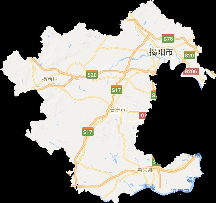 广东省揭阳市电子地图高清版大图