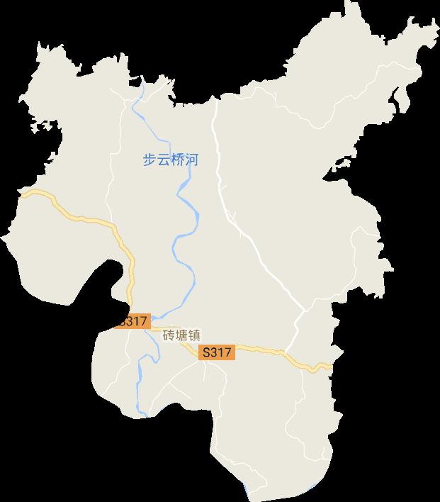 湖南省衡阳市祁东县砖塘镇电子地图高清版大图