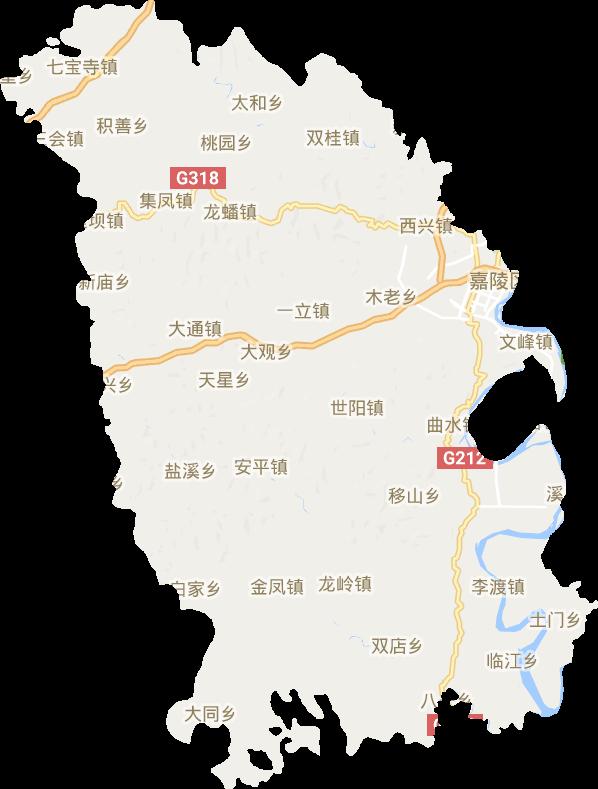四川省南充市嘉陵区电子地图高清版大图