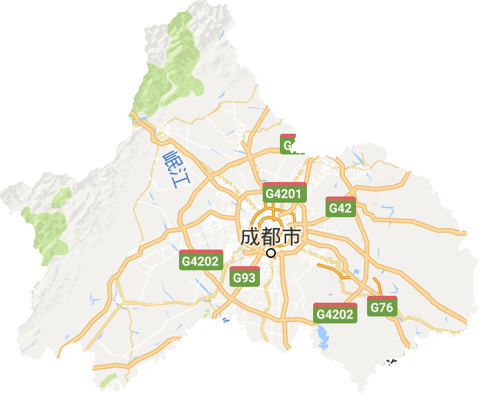 成都市电子地图_成都市高清卫星地图,成都市高清谷歌卫星地图