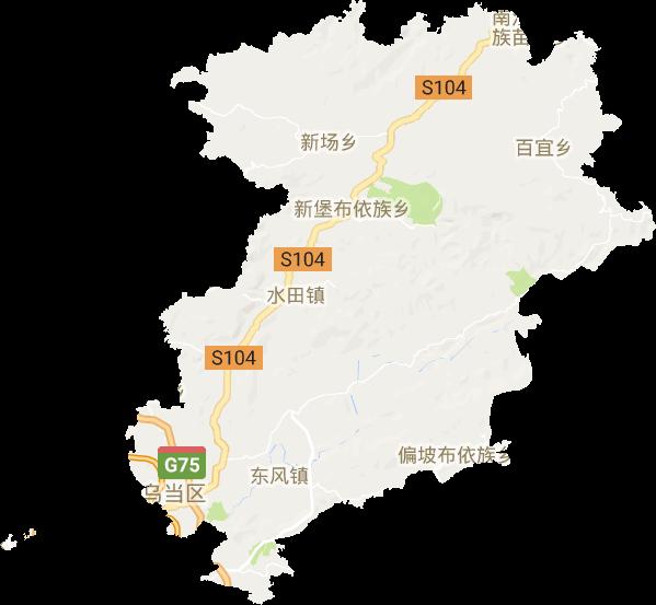 贵州省贵阳市乌当区电子地图高清版大图图片