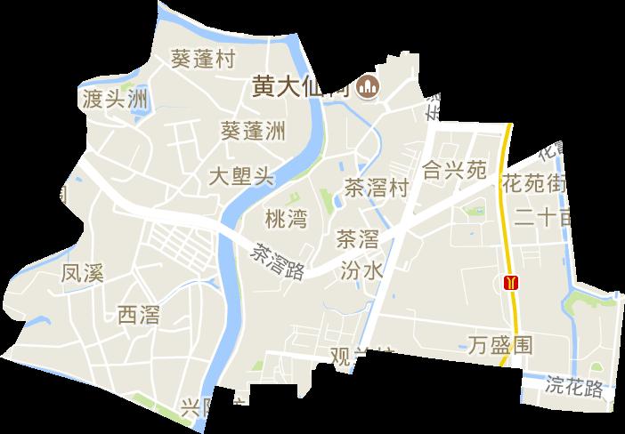 廣東省廣州市荔灣區茶滘街道電子地圖高清版大圖