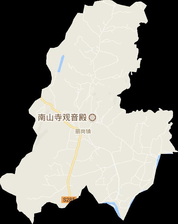 广东省茂名市化州市丽岗镇电子地图高清版大图