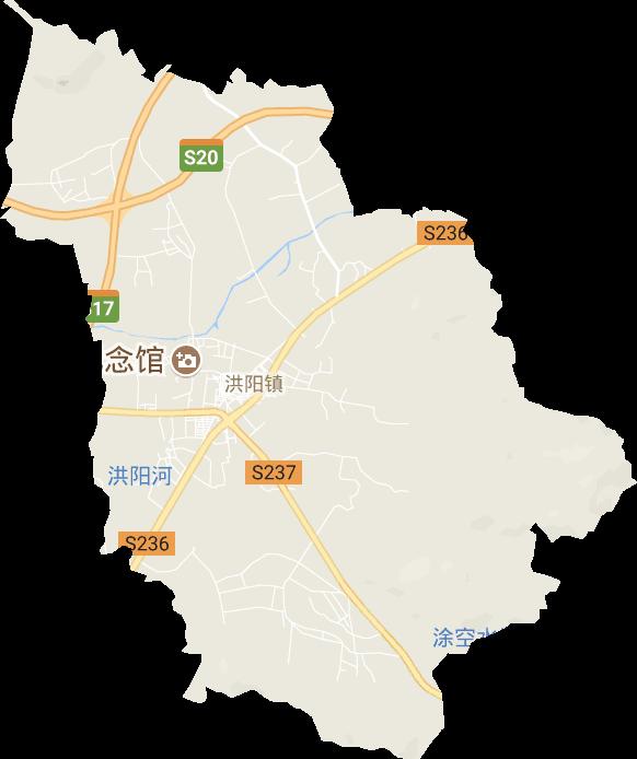 广东省揭阳市普宁市洪阳镇电子地图高清版大图