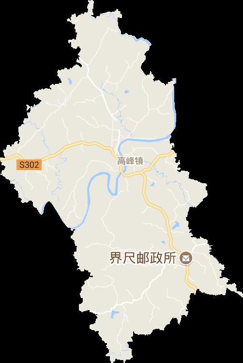 重庆市重庆郊县垫江县高峰镇电子地图高清版大图