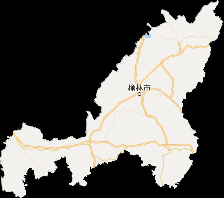 陕西省榆林市地形图高清版大图图片