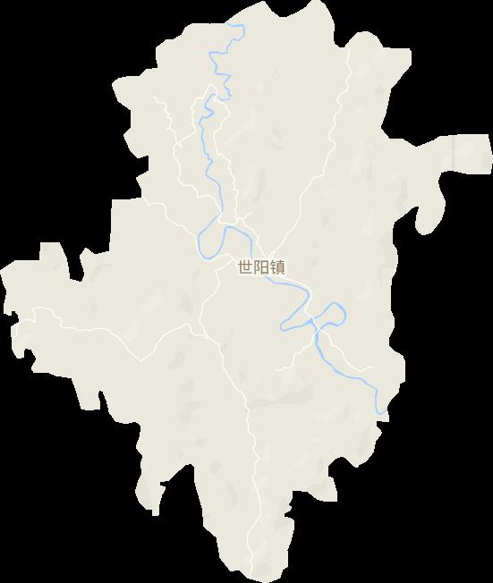 四川省南充市嘉陵区世阳镇电子地图高清版大图