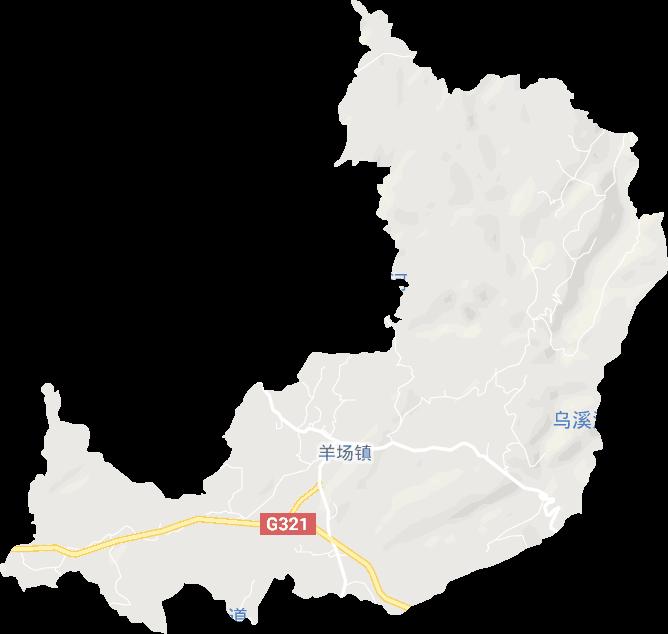贵州省毕节市大方县羊场镇电子地图高清版大图