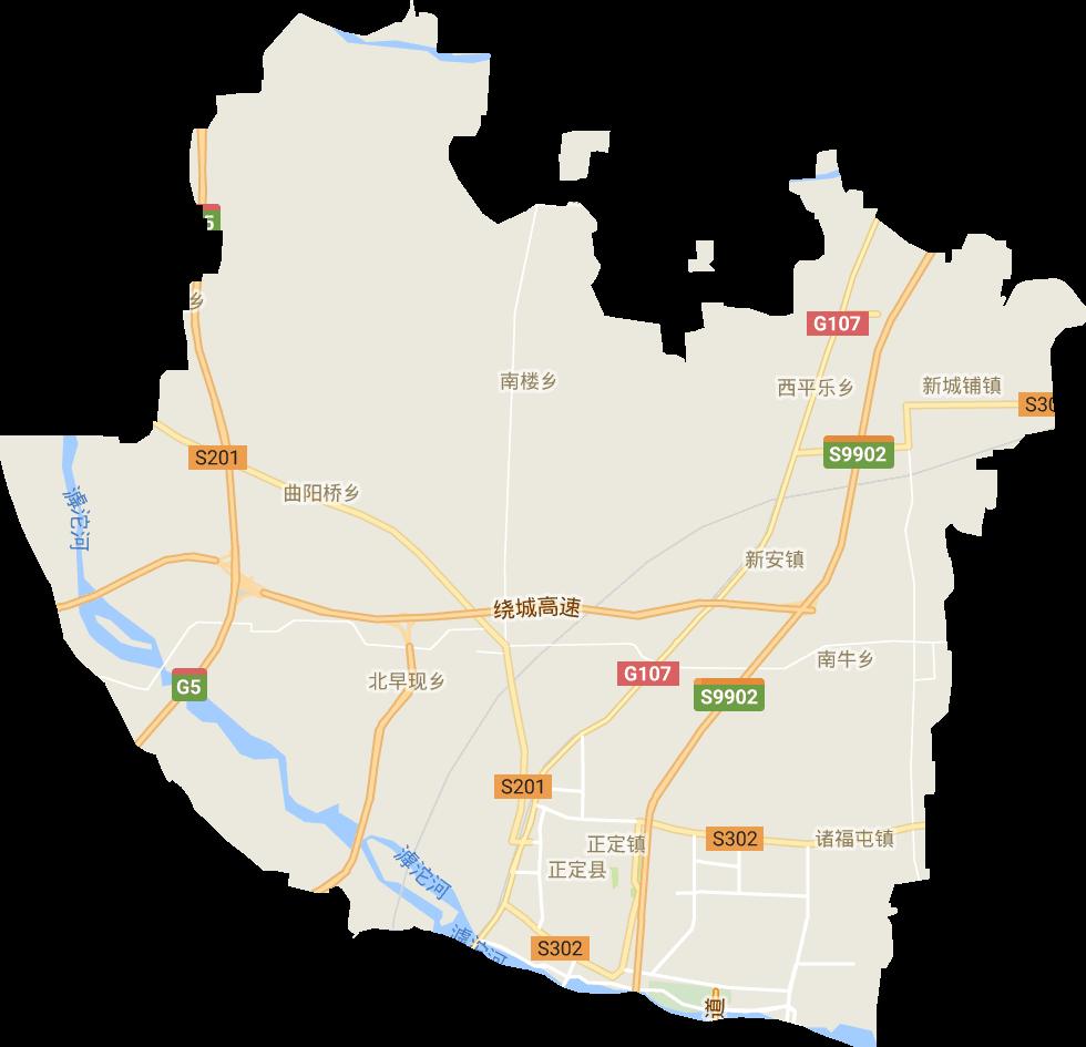 河北省石家庄市正定县电子地图高清版大图图片