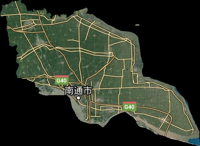 南通市高清卫星地图,南通市高清谷歌卫星地图