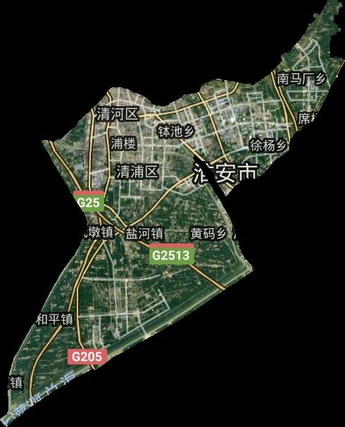 江苏淮安卫星地�_江苏省淮安市清江浦区卫星图高清版大图
