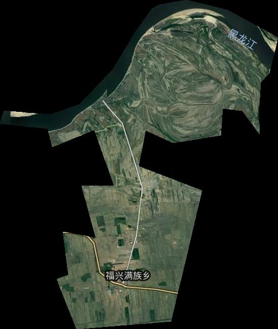 黑龙江省鹤岗市绥滨县福兴乡卫星图高清版大图