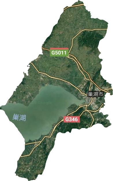 巢湖市高清卫星地图,巢湖市高清谷歌卫星地图