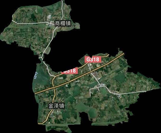金泽镇高清卫星地图,金泽镇高清谷歌卫星地图
