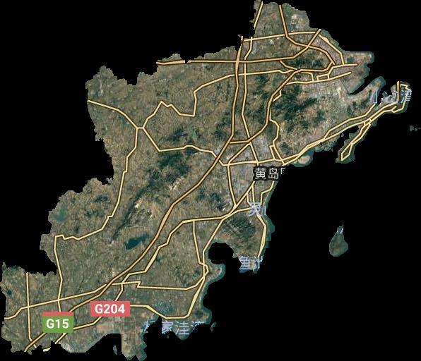 青岛市黄岛区_青岛市高清卫星地图,青岛市高清谷歌卫星地图