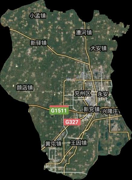 兖州区高清卫星地图,兖州区高清谷歌卫星地图