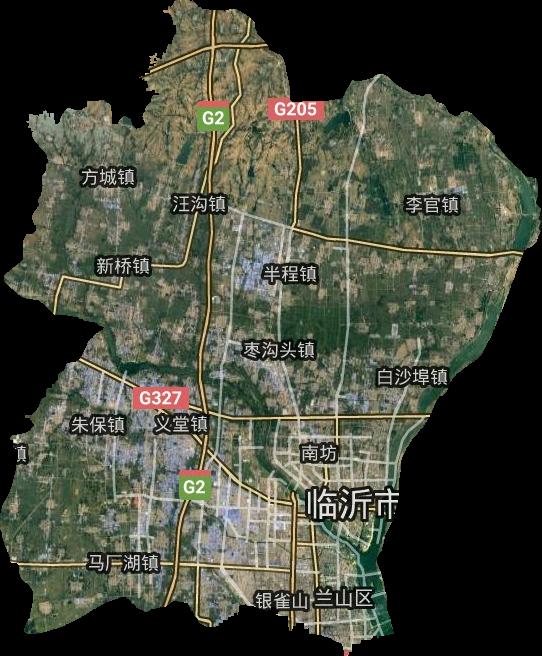 兰山区高清卫星地图,兰山区高清谷歌卫星地图