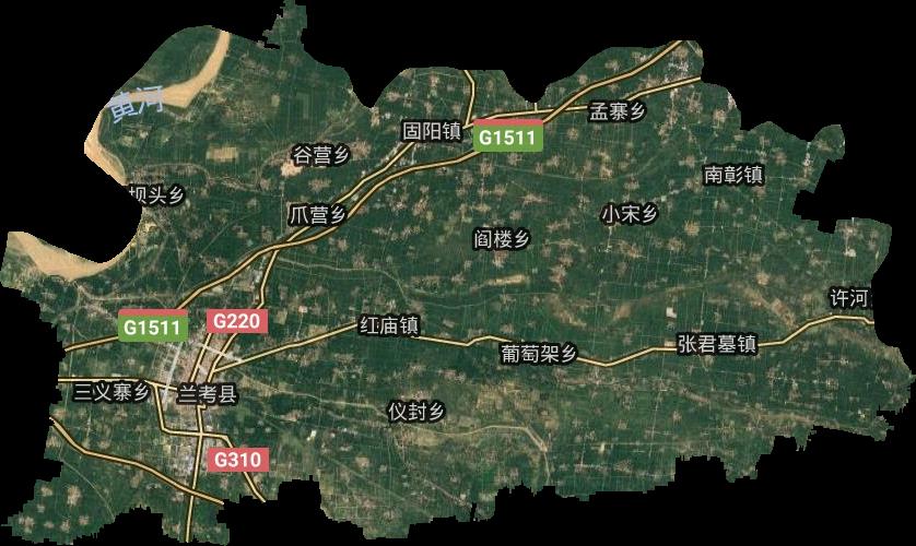 兰考县高清卫星地图,兰考县高清谷歌卫星地图