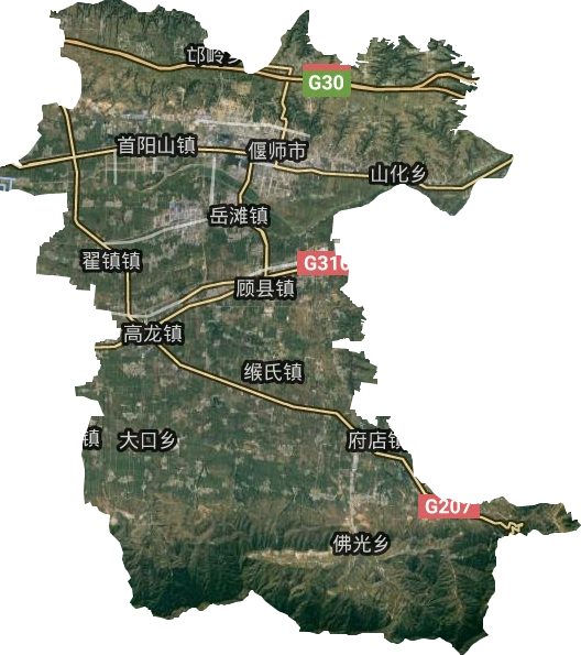 偃师市高清卫星地图,偃师市高清谷歌卫星地图