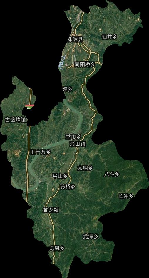株洲县高清卫星地图,株洲县高清谷歌卫星地图