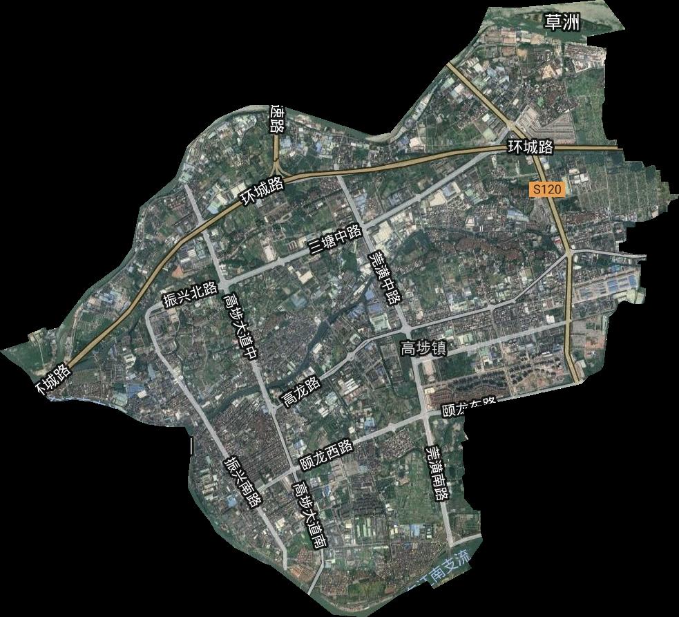 高埗镇高清卫星地图,高埗镇高清谷歌卫星地图