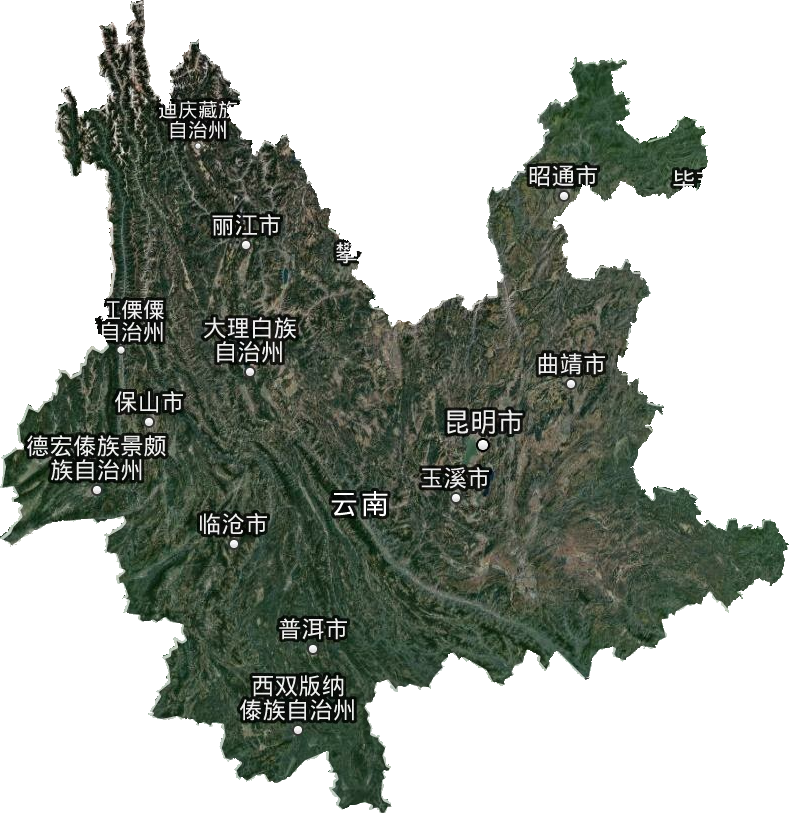 云南省高清卫星地图,云南省高清谷歌卫星地图