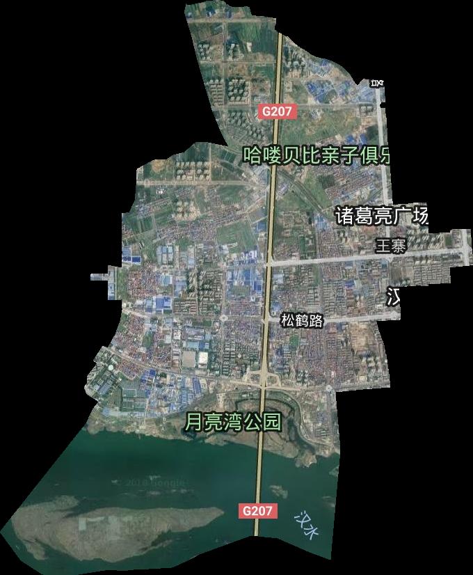 恩施州行政中心_鱼梁洲开发区高清卫星地图,鱼梁洲开发区高清谷歌卫星地图