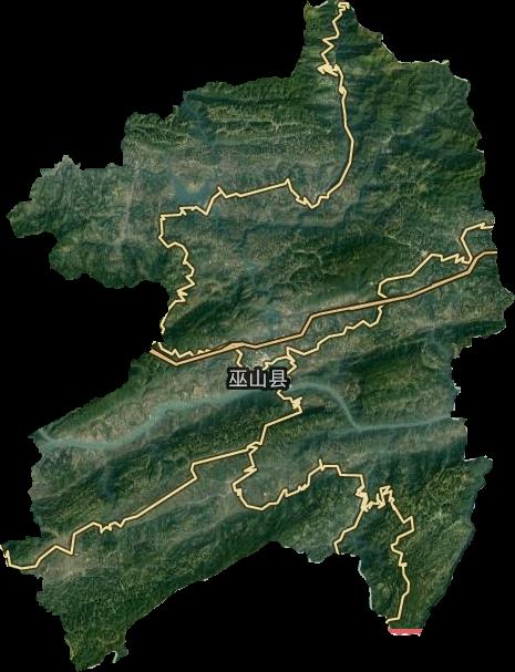 重庆巫山福田地图_巫山县高清卫星地图,巫山县高清谷歌卫星地图