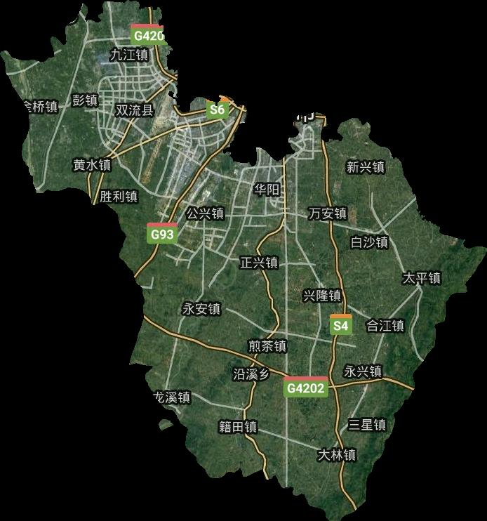双流区高清卫星地图,双流区高清谷歌卫星地图