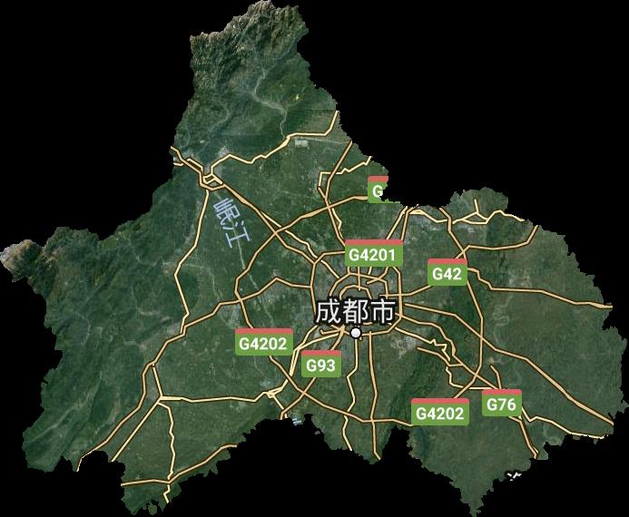 成都市高清卫星地图,成都市高清谷歌卫星地图