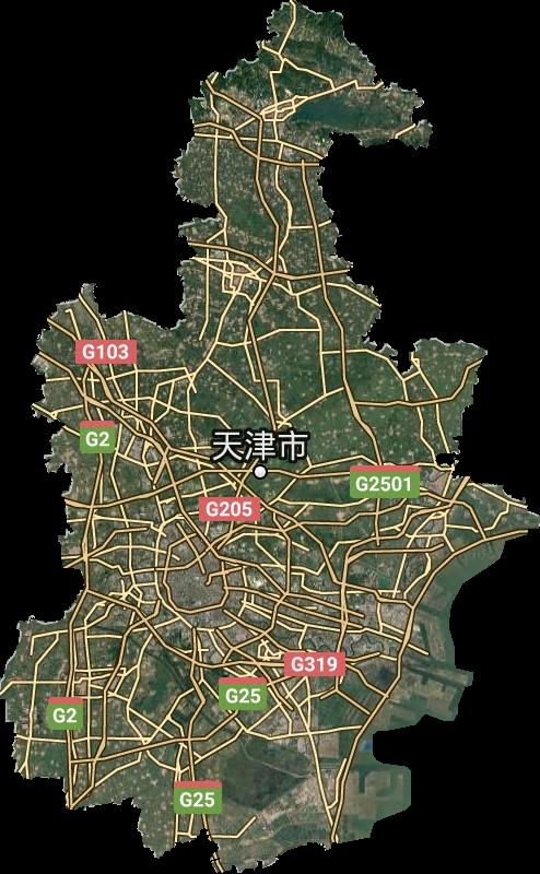 天津市谷歌卫星地图高清版
