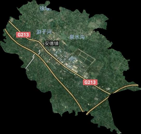 四川省成都市郫都区安德镇卫星图高清版大图