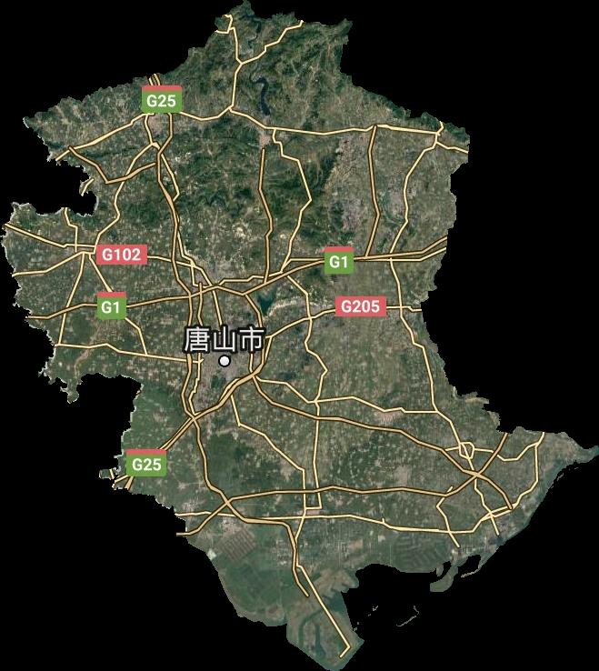 唐山市高清卫星地图,唐山市高清谷歌卫星地图
