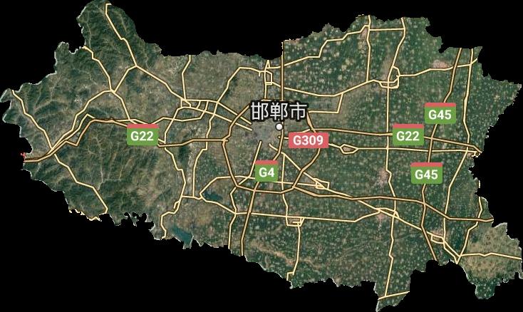 邯郸市高清卫星地图,邯郸市高清谷歌卫星地图