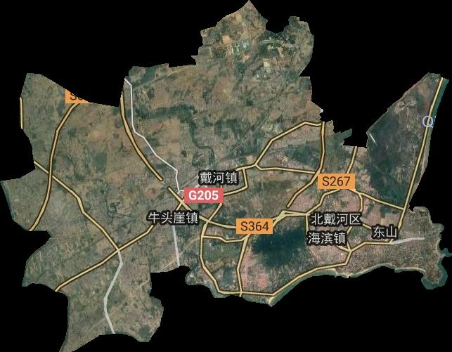 北戴河区高清卫星地图,北戴河区高清谷歌卫星地图